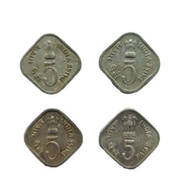 5 paise Commemoratice Coins, full set