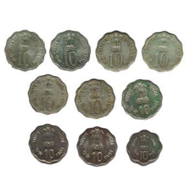 10 paise Commemorative Coins full set
